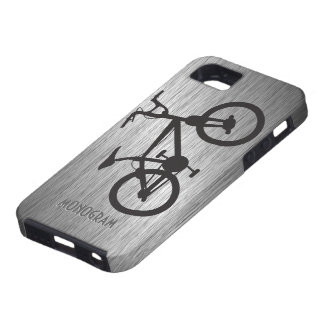 Gray Metallic Look Black Bicycle Case For The iPhone 5