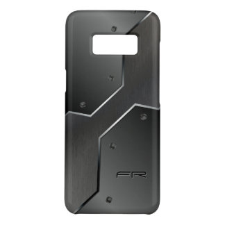 Gray Metallic Look Geometric Shapes Design Case-Mate Samsung Galaxy S8 Case