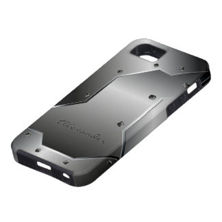 Gray Metallic Stainless Steel Look Customized iPhone 5 Cover