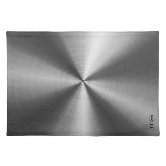 Gray Metallic Stainless Steel Look Placemat