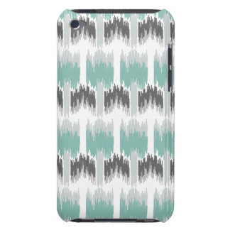 Gray Mint Aqua Modern Abstract Floral Ikat Pattern Barely There iPod Cases