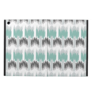 Gray Mint Aqua Modern Abstract Floral Ikat Pattern Case For iPad Air