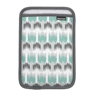 Gray Mint Aqua Modern Abstract Floral Ikat Pattern iPad Mini Sleeve