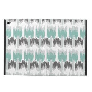 Gray Mint Aqua Modern Abstract Floral Ikat Pattern Powis iPad Air 2 Case