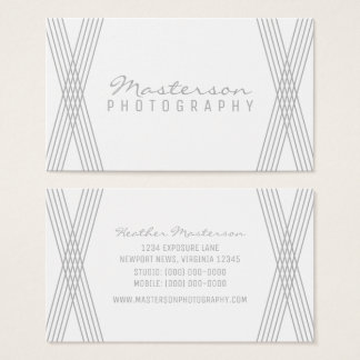 Gray Modern Deco Business Card
