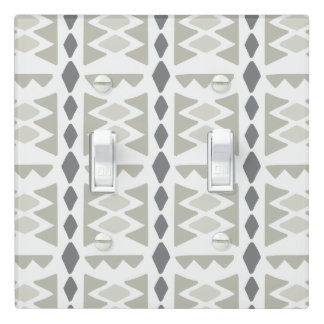 Gray Modern Ethnic Pattern | Light Switch Cover