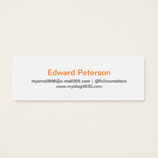 Gray modern generic simple elegant personal mini business card