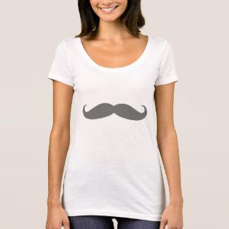Gray Mustache T-Shirt
