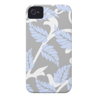 Gray-n-Blue Leaves iPhone 4 Cases
