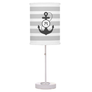 Gray Nautical Anchor Table Lamp