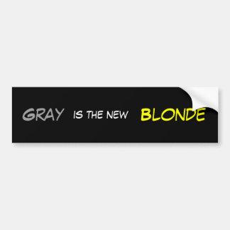 Gray New Blonde Bumper Sticker