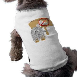 Gray no car pollution doggie tee shirt