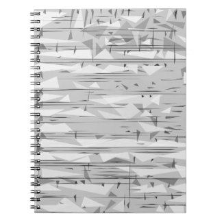Gray notebook with triangles
