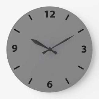 Gray Numbered Large Clock