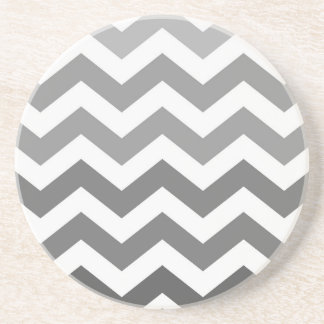 Gray Ombre Zigzags Coaster