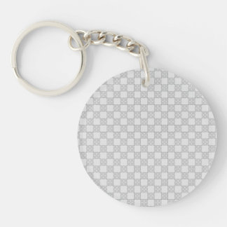 Gray Patchwork Pattern Acrylic Keychain