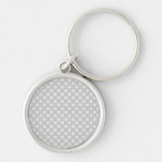 Gray Patchwork Pattern Key Chains