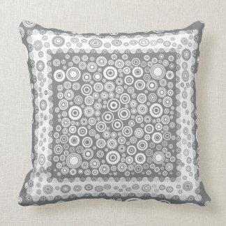 gray pattern pillow