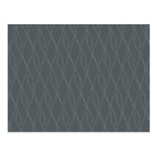 Gray pattern postcard