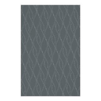 Gray pattern stationery
