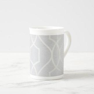 Gray Pattern Tea Cup