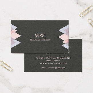 Gray Peach Arrow Women's Professional Business Business Card