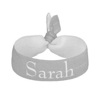 Gray Personalized Hair Tie