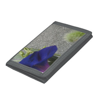 Gray Photo Wallet with Purple and Green Flora