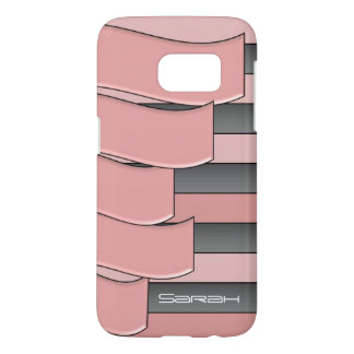 gray pink wavy samsung galaxy s7 case