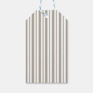Gray Pinstripe Gift Tags
