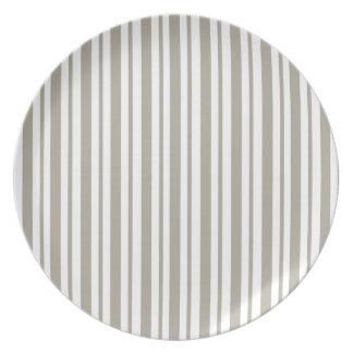 Gray Pinstripe Plate