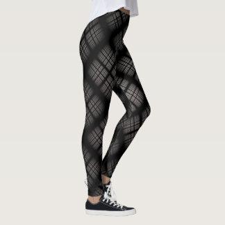 Gray Plaid Leggings