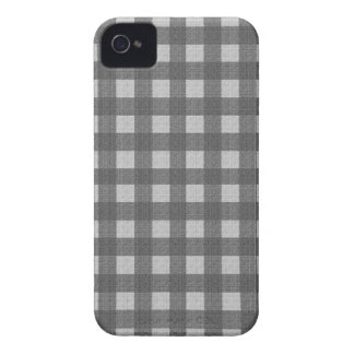 Gray plaid pattern Case-Mate iPhone 4 case