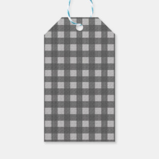 Gray plaid pattern pack of gift tags