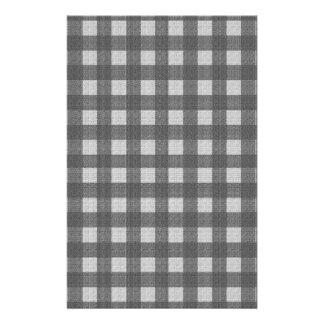 Gray plaid pattern stationery paper