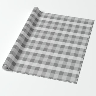 Gray Plaid Wrapping Paper