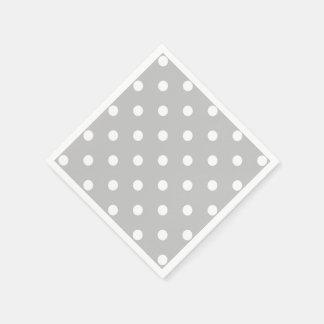 Gray Polka Dot Disposable Napkins