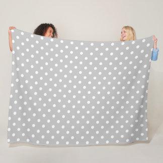 Gray Polka Dot Fleece Blanket