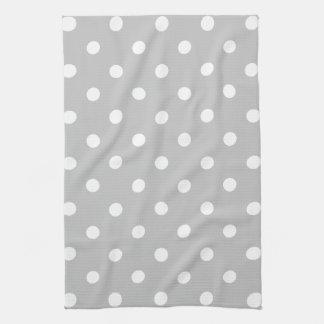 Gray Polka Dot Kitchen Towel