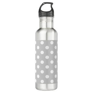 Gray Polka Dot Pattern 710 Ml Water Bottle
