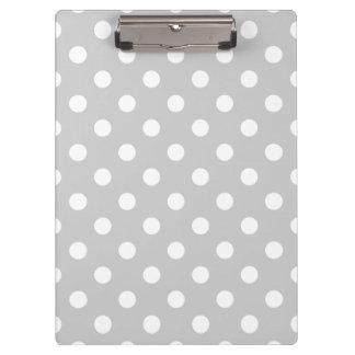 Gray Polka Dot Pattern Clipboard