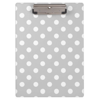 Gray Polka Dot Pattern Clipboards