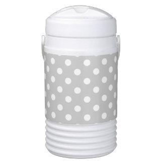 Gray Polka Dot Pattern Cooler