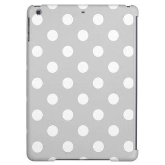 Gray Polka Dot Pattern iPad Air Cases
