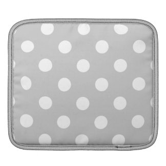Gray Polka Dot Pattern iPad Sleeve
