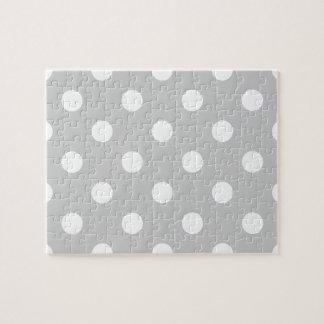 Gray Polka Dot Pattern Jigsaw Puzzle