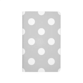 Gray Polka Dot Pattern Journal