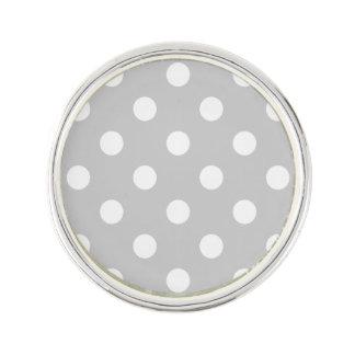 Gray Polka Dot Pattern Lapel Pin
