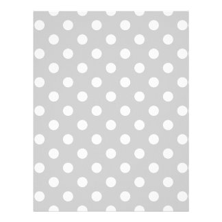 Gray Polka Dot Pattern Letterhead