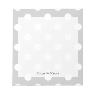 Gray Polka Dot Pattern Notepad
